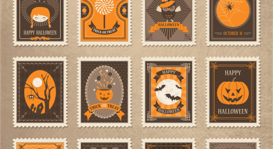 Freebie: Vintage Vector Halloween Stamps