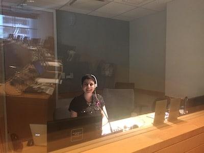 Interpreter in a booth