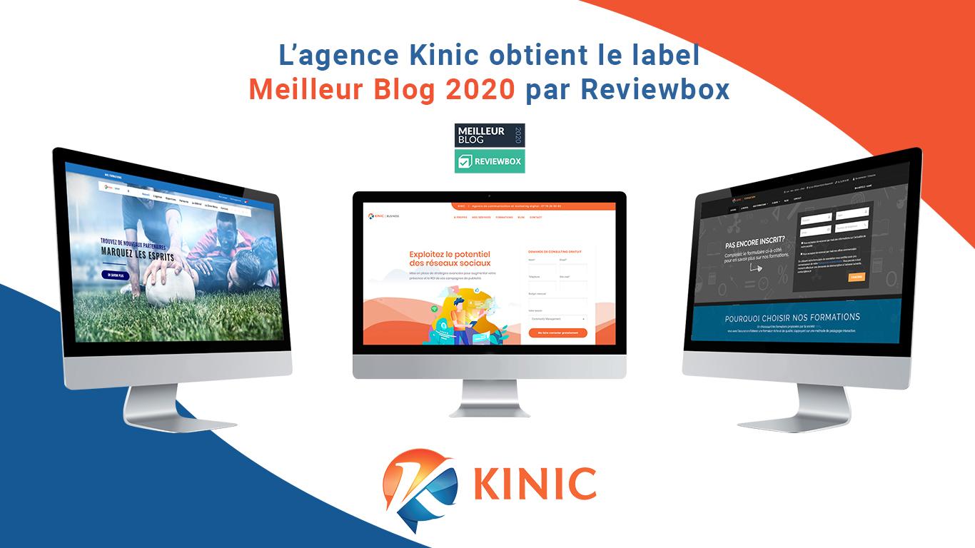L'agence Kinic obtient le label «Meilleur Blog 2020»