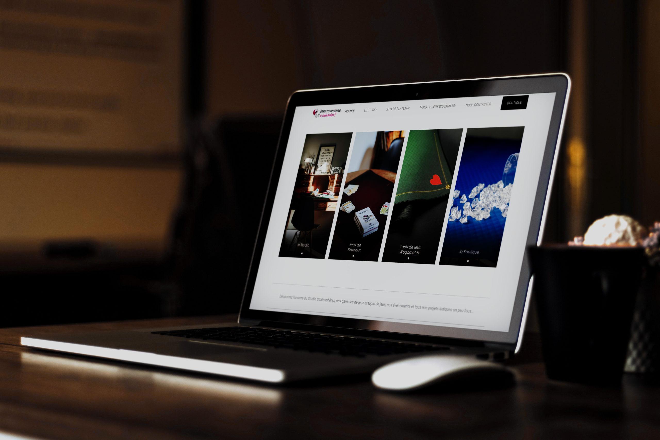 L'agence Kinic, développe le site du Studio Stratosphères
