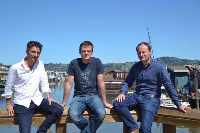 Face baie San Francisco, 3 fondateurs Pictyear :  Jérôme Tricault, Emmanuel Sordoillet Nicolas Moirignot