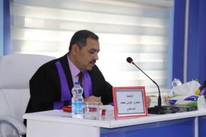 جانب من مناقشة طالب الدكتوراة سعدون عباس محمد الساعدي