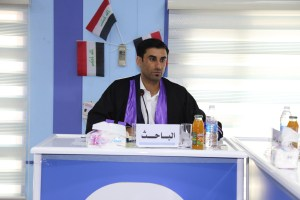 جانب من مناقشة طالب الدبلوم العالي محمد سعيد ماصخ العرداوي