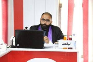 جانب من مناقشة الطالب علي محمد حسن