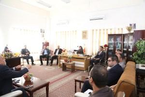 اجتماع رئيس قسم العلوم المالية والمصرفية مع أساتذة القسم
