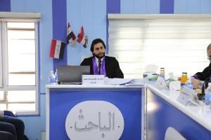 جانب من مناقشة الطالب حسن عبد الكريم الابراهيمي
