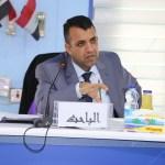 جانب من مناقشة الطالب عدنان فاضل طعمة