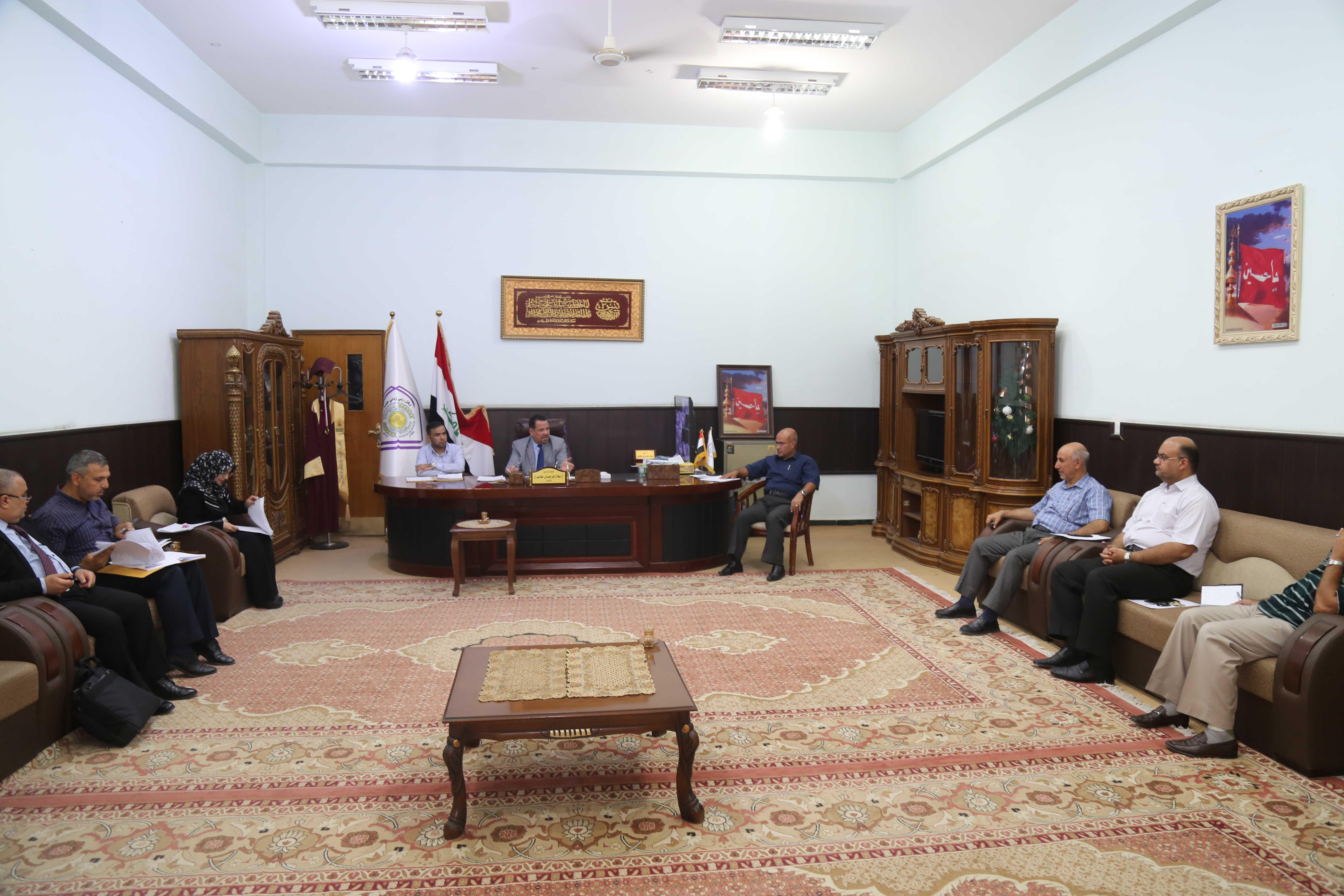 الجلسة الاولى لمجلس كلية الادارة والاقتصاد- جامعة كربلاء للعام الدراسي 2019-2020