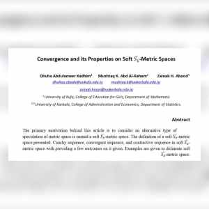 Read more about the article باحثون من جامعة كربلاء ينشرون بحثاُ في محرك بحث خاص بالمؤلفات العلمية والأكاديمية (Google Scholar)