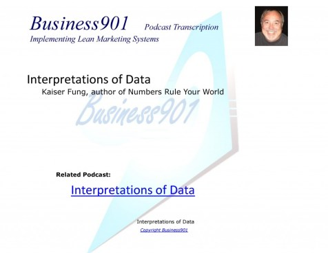 Interpretations of Data