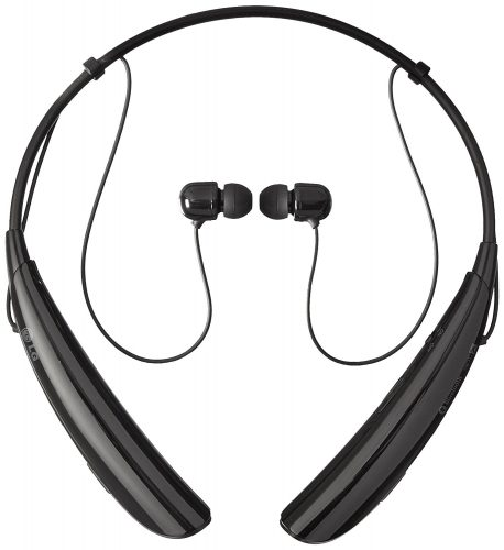 LG Electronics Tone Pro HBS-750 Bluetooth Wireless Stereo Headset - Retail Packaging – Black- wireless earbuds