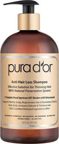 PURA D'OR Argan Oil Shampoo- hair growth shampoo