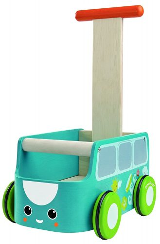 The Yellow Walker Van by Plan Toys- best baby walkers