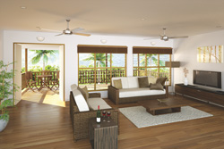 Niu Homes are built from renewable plantation pine. Credit: PNG Forest Products