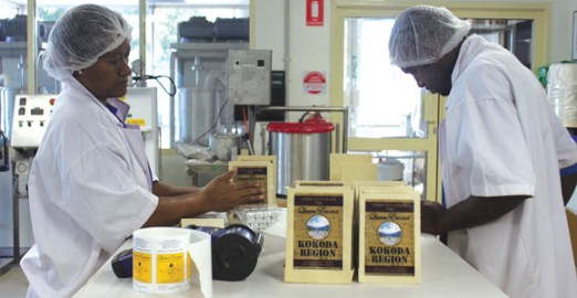 Packaging the chocolate. Credit: Paradise Foods