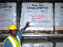 PNG rubber is sold to Europe, China and Australia