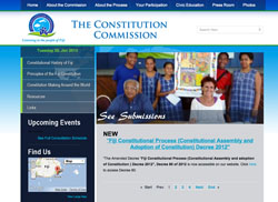 The website of Fiji's Constitutional Commission