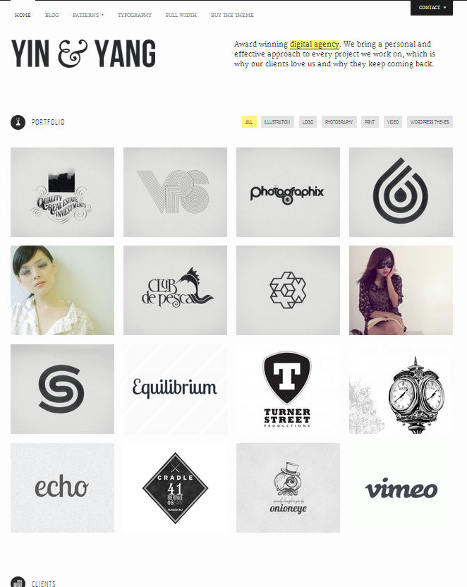 yinyang-wordpress-portfolio-theme