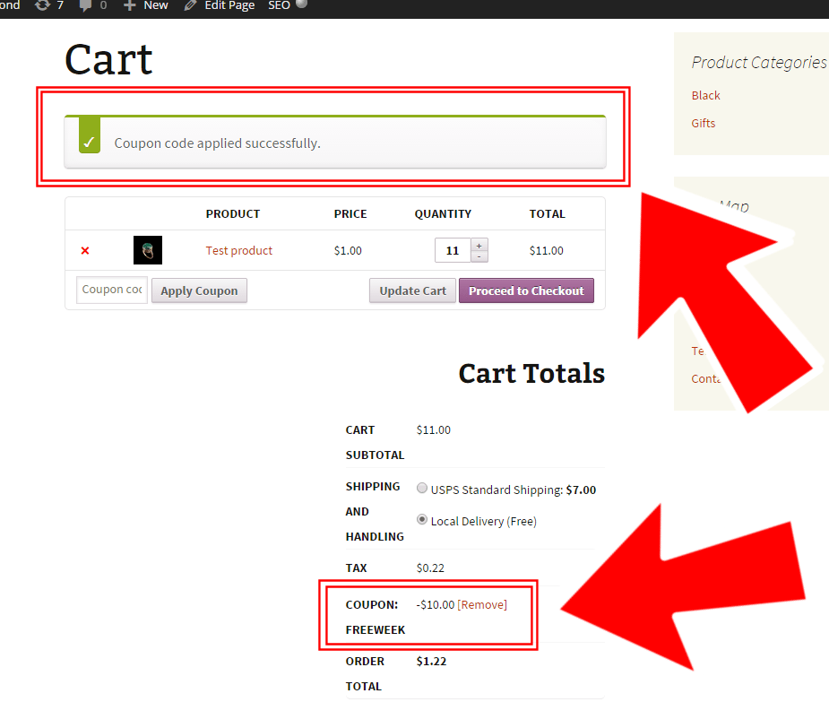 woocommerce apply coupon programmatically if product cart