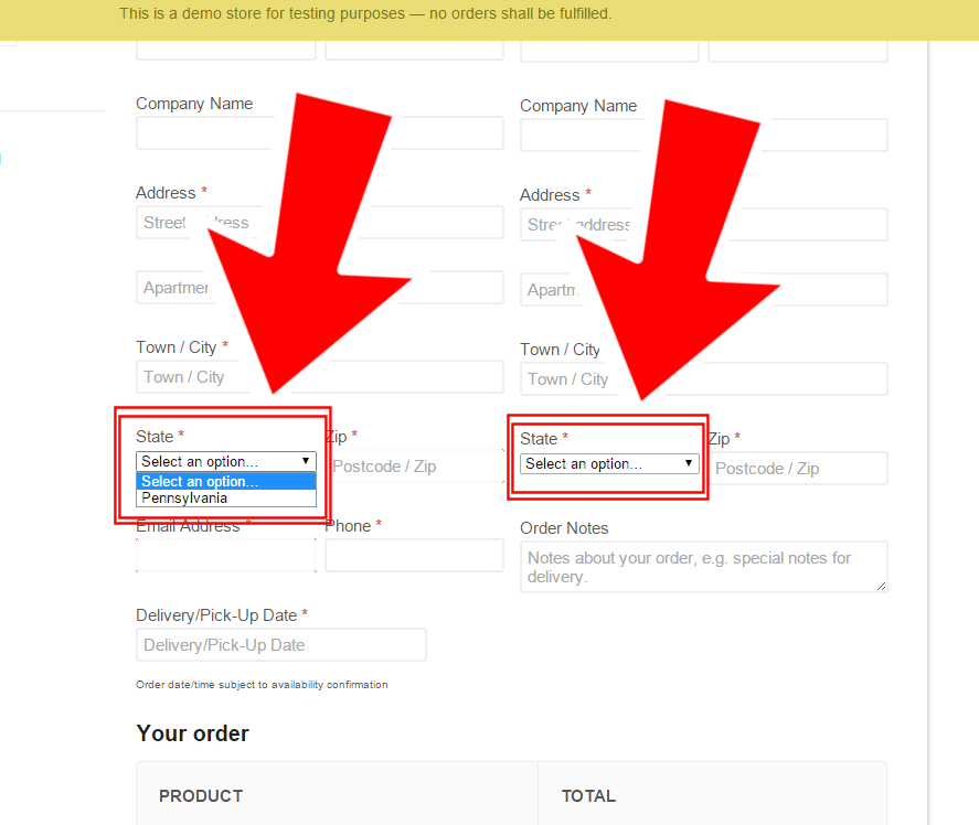 WooCommerce State Dropdowns @ Checkout