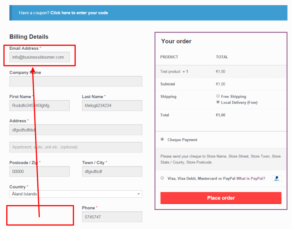 WooCommerce: move billing/shipping checkout fields around