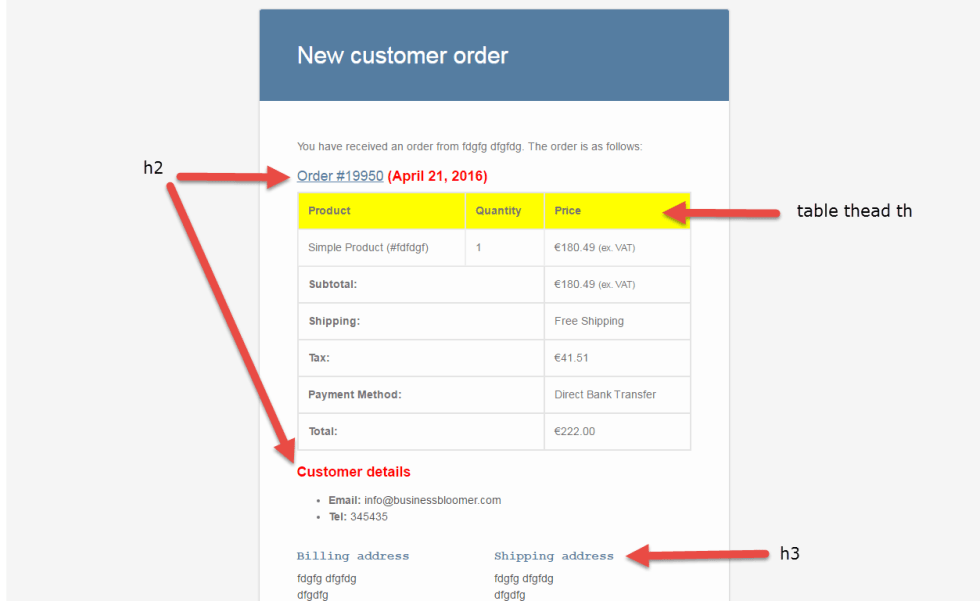WooCommerce: Customize Email's CSS