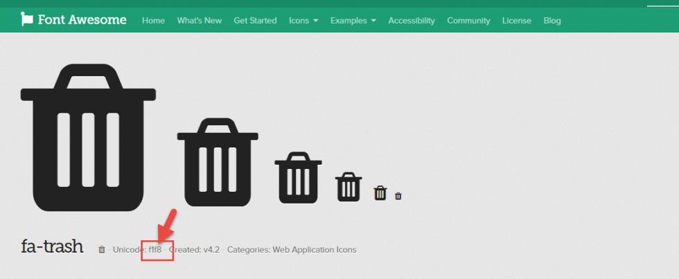 """FontAwesome """"trash"""" icon specs"""