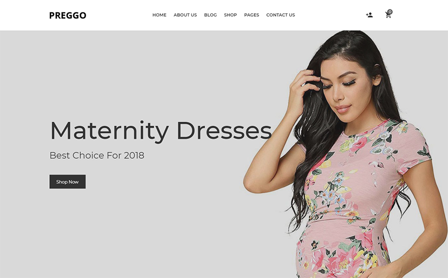 8cc162b03b3 Here is Preggo – a soft and elegant WooCommerce theme. It was designed to  manage a shop related to maternity clothes. Working with the template