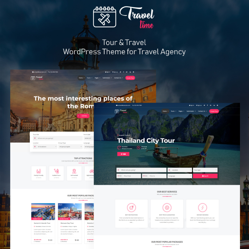 10 Travel WordPress Themes to Turn Your Hobby Into a Business