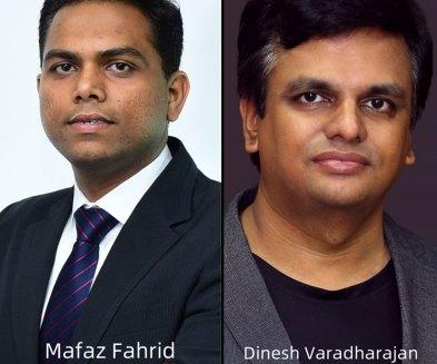 Mafaz Fahrid CEO Eguardian and Dinesh Varadharajan VP Products Kissflow
