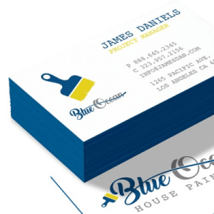 32 pt Uncoated Painted Edge business card