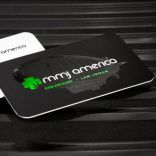 use of black color on business card