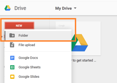 """New look for the """"Create"""" menu in Drive"""