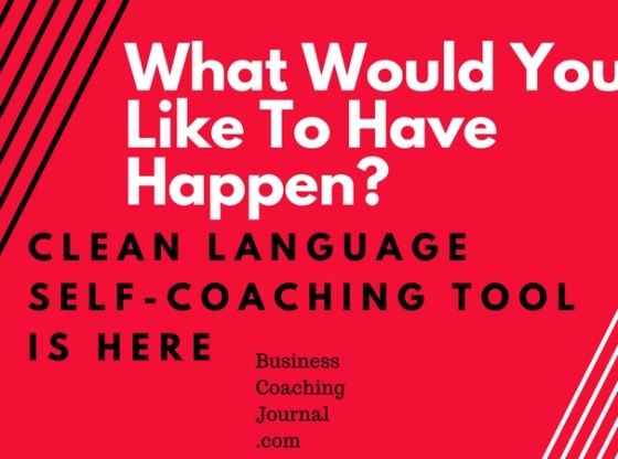 Clean Language Self-Coaching Tool Free Online Business Coaching Journal