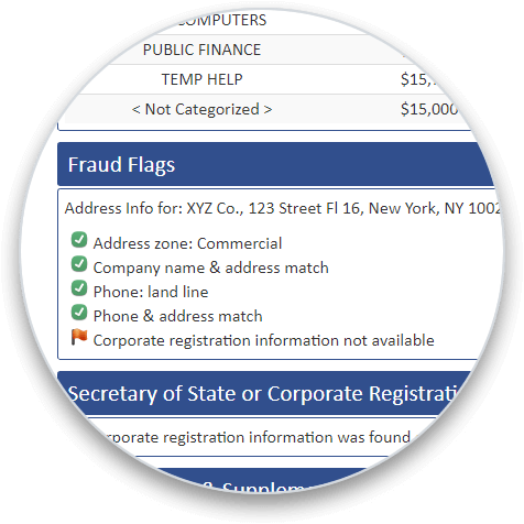Fraud Flags circle graphic