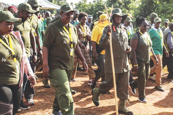 Ugandan opposition says Musevenis 6-day symbolic jungle march wasteful -