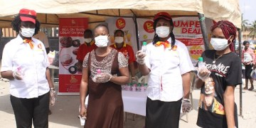 Mr Biggs gives out sanitizers, nose masks, gloves - Businessday NG