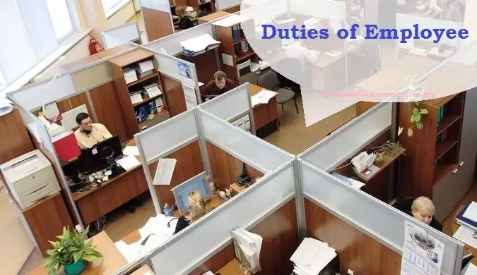 responsibilities of employee