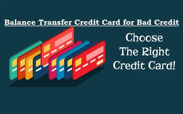 Credit Cards For Bad Credit >> Best Balance Transfer Credit Cards For Bad Credit
