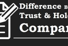 difference between trust and holding company
