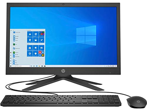 HP All in One Intel Celeron Processor 20.7-inch FHD PC with Alexa Built-in (4GB/1TB HDD/Wired Keyboard & Mouse/Win 10/Jet Black), 21-b0109in