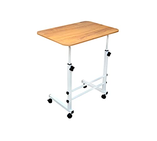 Krishna Furniture Multi-Purpose Laptop Table| Study Table| Bed Table| Adjustable Height, Portable| Perfect Desk| Ideal for Work from Home| Kids| DIY Table, Easy to Assemble (Wooden) (Wooden)