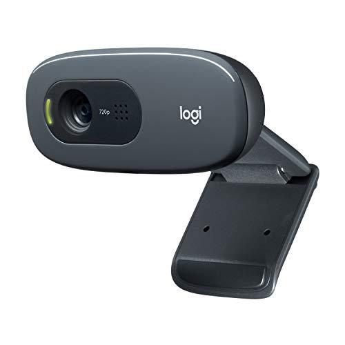 Logitech C270 HD Webcam, HD 720p/30fps, Widescreen HD Video Calling, HD Light Correction, Noise-Reducing Mic, for Skype, FaceTime, Hangouts, WebEx, PC/Mac/Laptop/MacBook/Tablet - Black