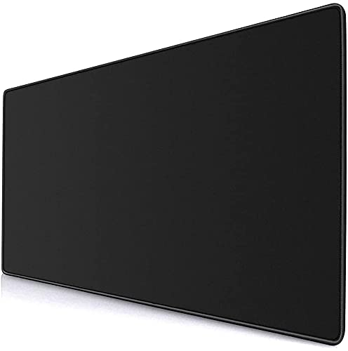 PEARIVE Extended & Large Gaming Mouse Pad| Stitched Embroidery Edges| Non-Slip Rubber Base |for Computer Laptop MacBook| Waterproof Keyboard Pad for Office & Home (900mm x 300mm)