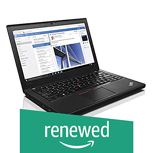 (Renewed) Lenovo Think Pad Intel 6th Gen Core i5 12.5-Inch (31.75 cms) 1920x1080 Laptop (8 GB/500 GB/Windows 10/Integrated Graphics/Black/2.50 Kg), X260