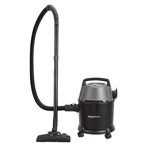 AmazonBasics Wet and Dry Vacuum Cleaner with Power Suction, Low Sound, High Energy Efficiency and 1 Year Warranty (14L, Plastic Body)