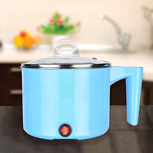 DK HOME APPLIANCES Electric Multifunction Cooking Pot 1.5 Litre Multi-Purpose Cooker Mini Electric Cooker Steamer Cook pots for Cook Noodles/hot Pot/Rice Porridge for Home, Office and Travel
