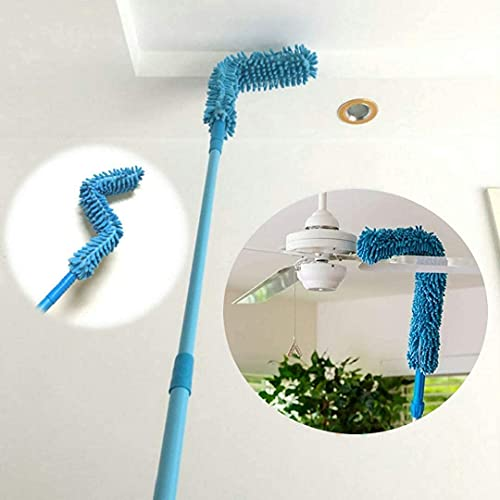 DOZZBY with DB Foldable Microfiber Fan Cleaning Duster Steel Body Flexible Fan mop for Quick and Easy Cleaning of Home, Kitchen, Car, Ceiling, and Fan Dusting Office Fan Cleaning Brush with Long Rod (Multi)