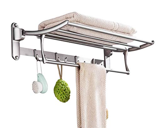 FORTUNE Stainless Steel Folding Towel Rack (24 inch) Pack of (1) if Don't Receive FORTUNE™ Logo Product