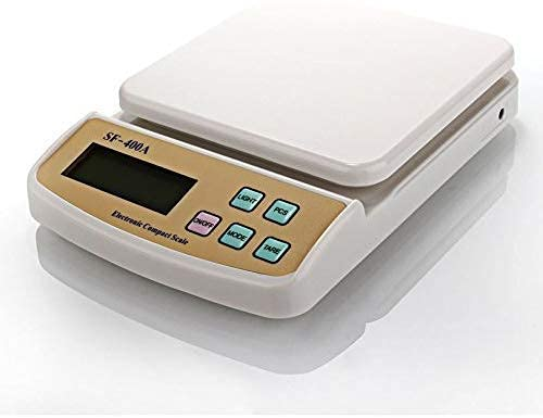 GEZRIL SF-400A 10 KG Electronic Weight Machine for Kitchen   Food Weight Scale for Home, Kitchen, Shop   Small, Portable Weighing Scale for Food, Products